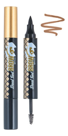 Тинт для бровей двухсторонний Oops Dual Tint Brow 4,5г: 01 Dark Brown гелево кремовый тинт для бровей brow tint 12мл et08 сложно бордовый