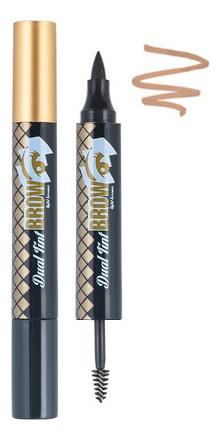 Тинт для бровей двухсторонний Oops Dual Tint Brow 4,5г: 02 Light Brown гелево кремовый тинт для бровей brow tint 12мл et08 сложно бордовый