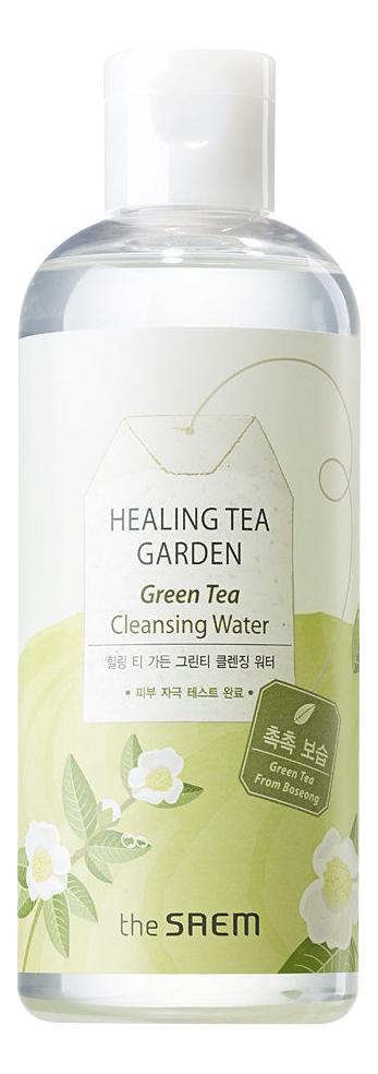 Очищающая вода с экстрактом зеленого чая Healing Tea Garden Green Tea Cleansing Water: Вода 300мл the saem салфетки очищающие с экстрактом зеленого чая healing tea garden 60 шт