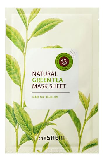 Маска тканевая с экстрактом зеленого чая Natural Green Tea Mask Sheet 21мл маска deoproce color synergy effect sheet mask yellow green