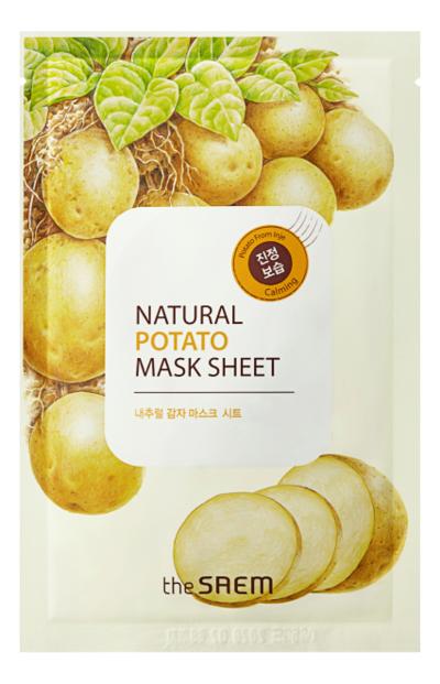 Купить Маска тканевая с экстрактом картофеля Natural Potato Mask Sheet 21мл, The Saem