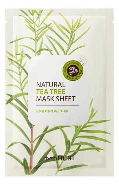 Фото - Маска тканевая с экстрактом чайного дерева Natural Tea Tree Mask Sheet 21мл альгинатная маска с маслом чайного дерева пудра активатор aqua tea tree magic mask