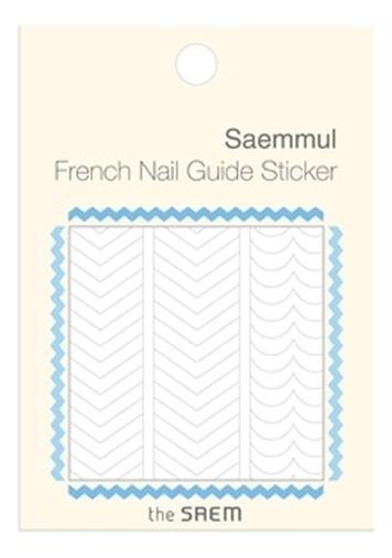 Наклейки для французского маникюра French Nail Guide Sticker: 01 Zig Zag