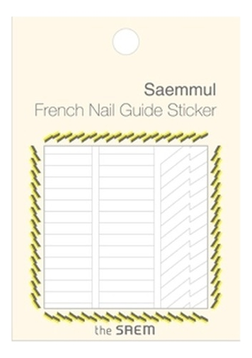 Наклейки для французского маникюра French Nail Guide Sticker: 03 Thunder and Lightning