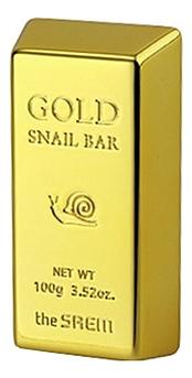 Мыло для умывания с золотом, муцином улитки и экстрактом оливы Gold Snail Bar 100г farmstay маска пленка 24k gold snail peel off pack с золотом и муцином улитки 100г