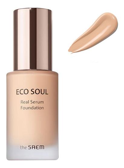 цена на База-сыворотка под макияж Eco Soul Spau Serum Foundation SPF30 PA++ 30мл: 02 Natural Beige