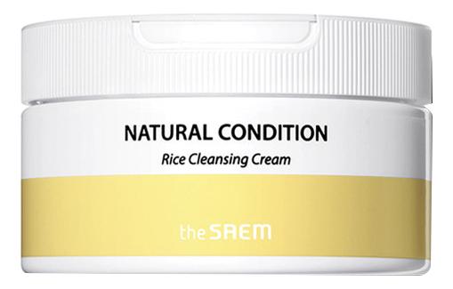 Купить Крем для лица очищающий с экстрактом риса Natural Condition Rice Cleansing Cream 300мл, The Saem