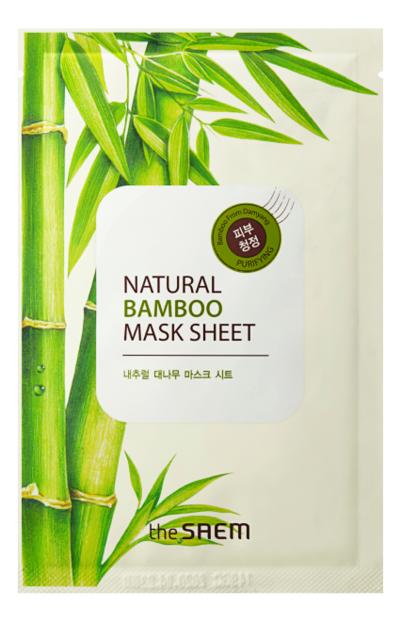 Купить Маска тканевая с экстрактом бамбука Natural Bamboo Mask Sheet 21мл, The Saem