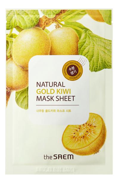 Маска тканевая с экстрактом киви Natural Gold Kiwi Mask Sheet 21мл