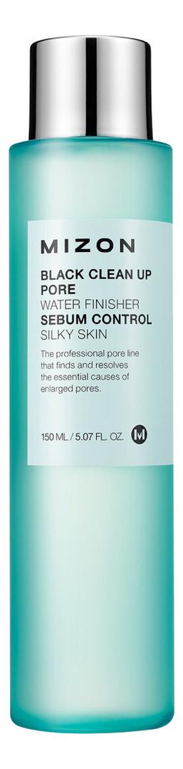 Очищающий тоник для проблемной кожи лица Black Clean Up Pore Water Finisher 150мл тоник для лица mizon mizon mi083lwgccn1
