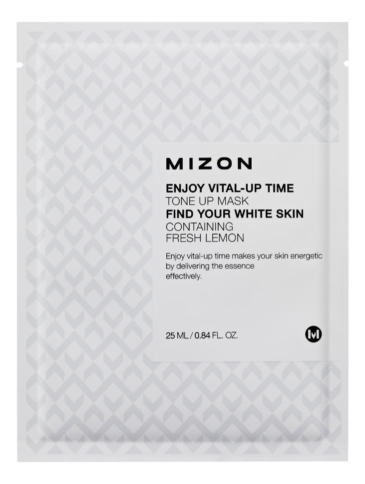 Купить Маска листовая для лица с экстрактом лимона Enjoy Vital-Up Time Tone Up Mask 25мл, Mizon