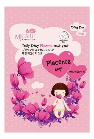 Маска тканевая с плацентой MJ Care Daily Dewy Placenta Mask Pack 25г недорого