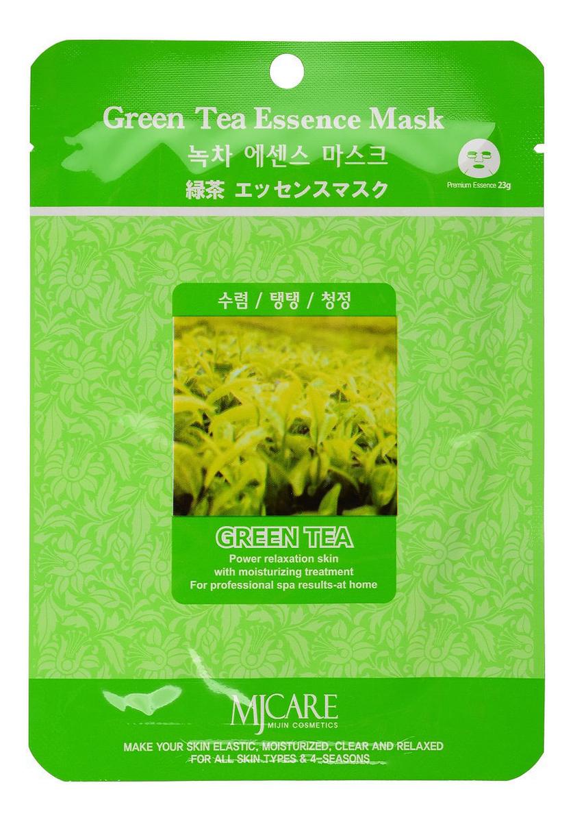 Купить Маска тканевая Зеленый чай MJ Care Green Tea Essence Mask 23г, Mijin