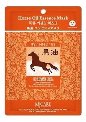 Купить Маска тканевая Конский жир MJ Care Horse Oil Essence Mask 23г, Mijin