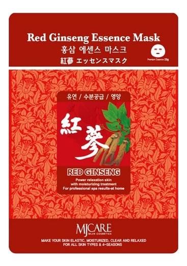 Купить Маска тканевая Красный женьшень MJ Care Red Ginseng Essence Mask 23г, Mijin
