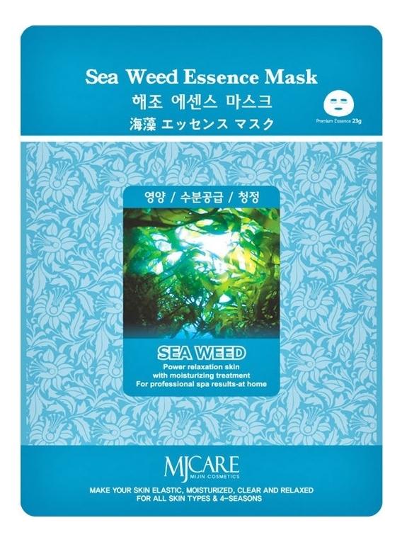 Купить Маска тканевая Морские водоросли MJ Care Sea Weed Essence Mask 23г, Mijin