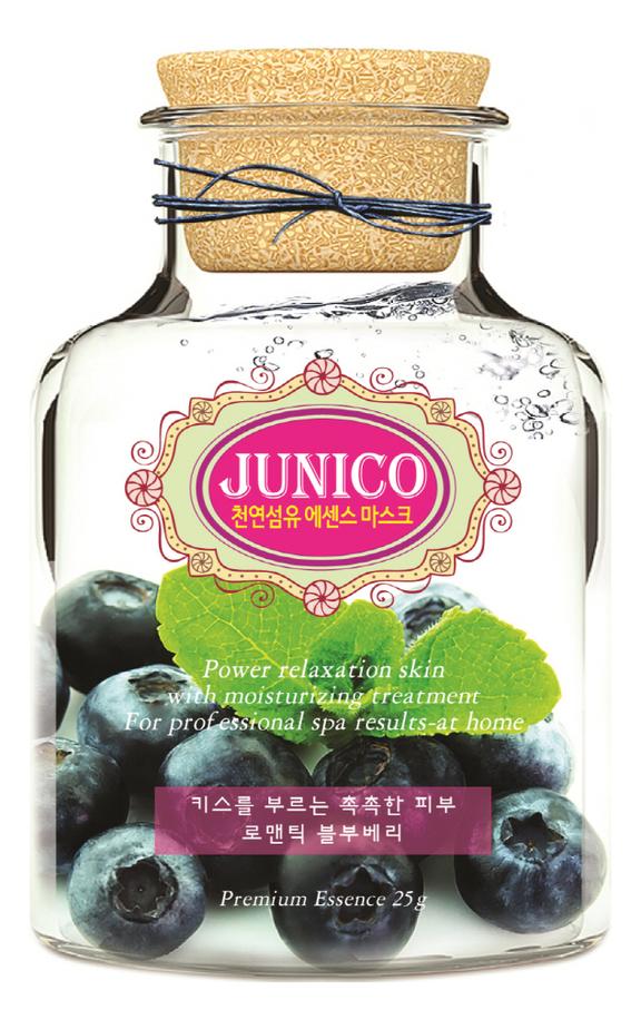 Маска тканевая c экстрактом черники Junico Blueberry Essence Mask 25г