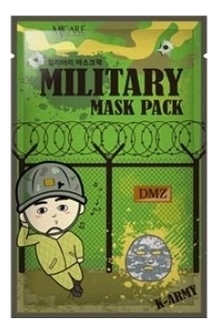 Маска для лица мужская MJ Care Military Mask K-Army 25г