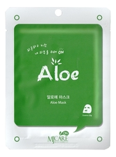 Mijin Маска тканевая с алоэ MJ Care On Aloe Mask Pack 22г