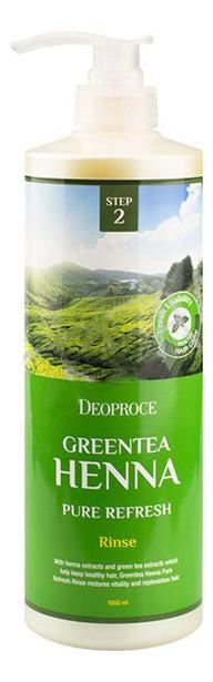 Купить Бальзам для волос с зеленым чаем и хной Greentea Henna Pure Refresh Rinse 1000мл, Deoproce