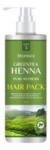 Купить Маска для волос с зеленым чаем и хной Greentea Henna Pure Refresh Hair Pack 1000мл, Deoproce