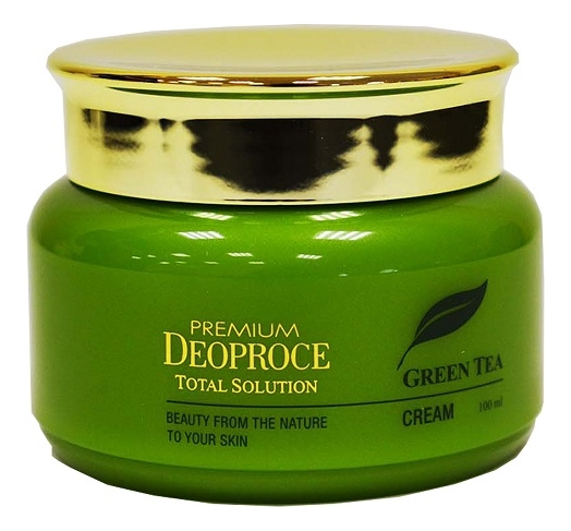 Крем для лица на основе зеленого чая Premium Green Tea Total Solution Cream 100мл крем для рук с экстрактом зеленого чая daily moisturizing green tea hand cream 100мл