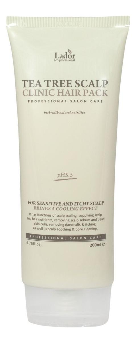 Купить Маска для волос и кожи головы с экстрактом чайного дерева Tea Tree Scalp Clinic Hair Pack 200мл, La`dor