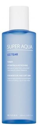 Тонер для лица увлажняющий Super Aqua Ice Tear Toner 180мл косметика super aqua