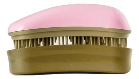 Расческа для волос Hair Brush Mini Pink-Old Gold (розовая-старое золото)
