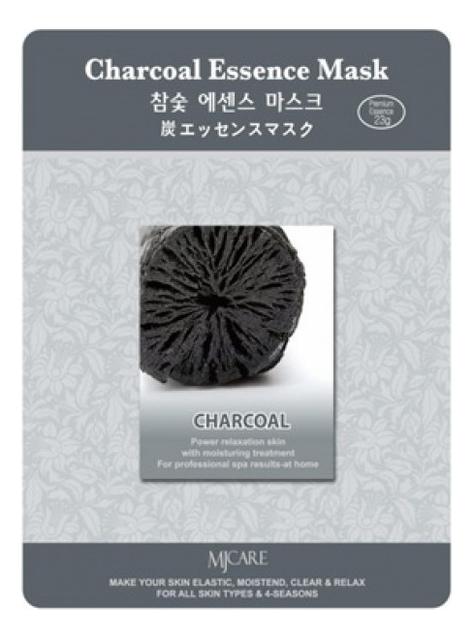 Купить Маска тканевая Древесный уголь MJ Care Charcoal Essence Mask 23г, Mijin