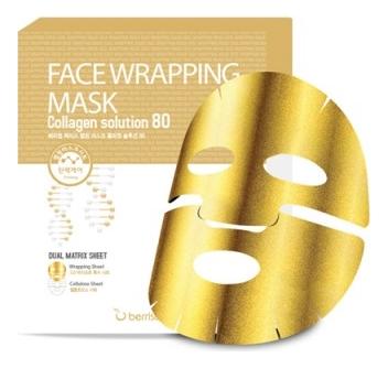 Купить Маска для лица с коллагеном Face Wrapping Mask Collagen Solution 80 27г, Berrisom