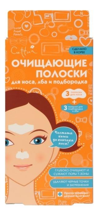 Очищающие полоски для носа, лба и подбородка 6 полосок, Cettua  - Купить
