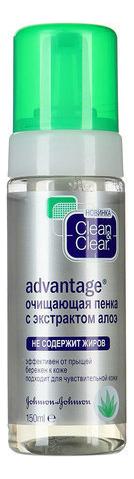 Купить Очищающая пенка с экстрактом алоэ Advantage 150мл, Clean & Clear