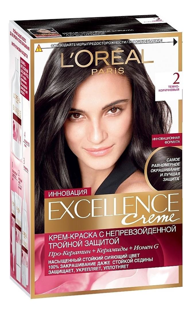 Крем-краска для волос Excellence Creme 192мл: 2 Темно-коричневый крем excellence