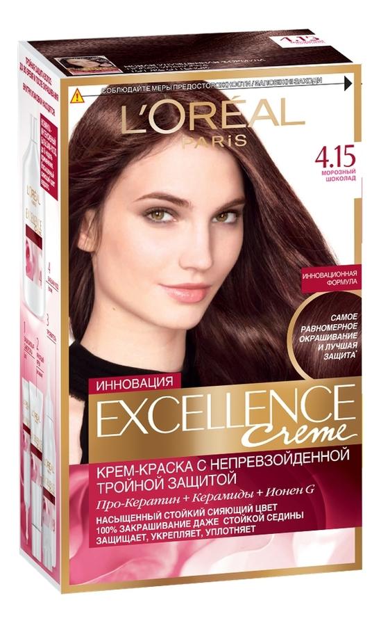 Крем-краска для волос Excellence Creme 192мл: 4.15 Морозный шоколад крем excellence