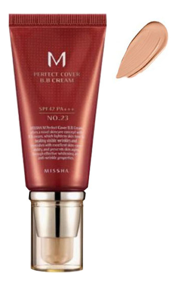 BB крем для лица M Perfect Cover BB Cream SPF42 PA+++ 50мл: 23 Natural Beige bb крем для лица m perfect cover bb cream spf42 pa 50мл 13 bright beige