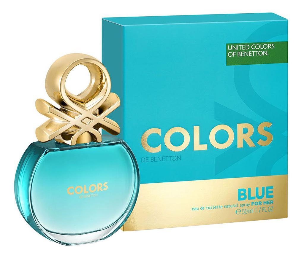 Benetton Colors de Blue For Her: туалетная вода 50мл