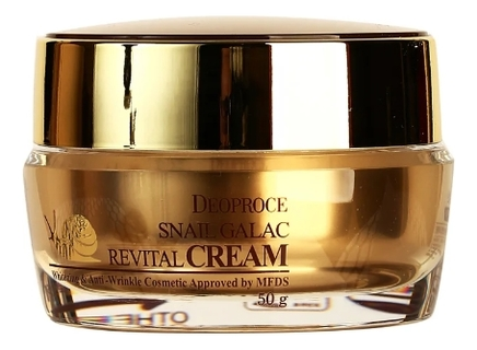 Купить Крем для лица с муцином улитки Snail Galac Revital Cream 50г, Deoproce
