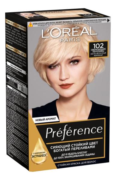 Купить Краска для волос Preference 60мл: 102 Сверкающие переливы, L'oreal