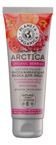 Маска для лица Сила арктических ягод Secrets of Arctica Organic Berries 75мл шампунь с соком спелой клюквы увлажнение и уход secrets of arctica organic klukva 280мл