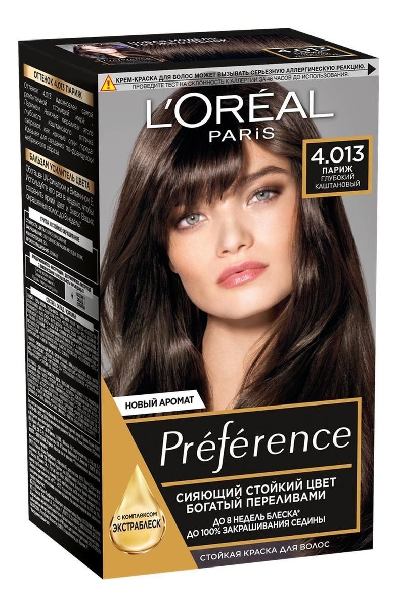 Купить Краска для волос Preference 60мл: 4.013 Париж, L'oreal