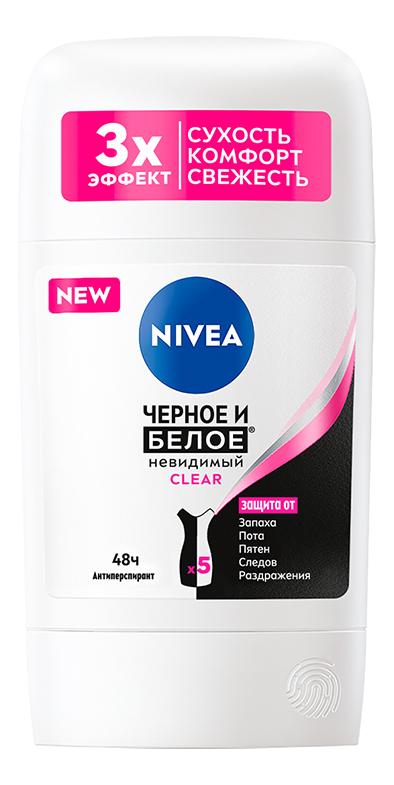 Купить Дезодорант-стик Невидимая защита для черного и белого Clear 40мл, NIVEA
