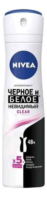 Купить Дезодорант-антиперспирант Невидимая защита для черного и белого Clear 150мл: Дезодорант 150мл, NIVEA