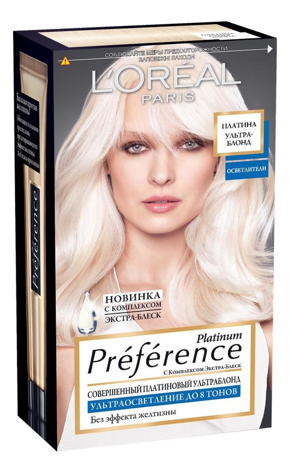 Осветлитель для волос Preference Platinum 40мл: Платина ультраблонд самый щадящий осветлитель для волос