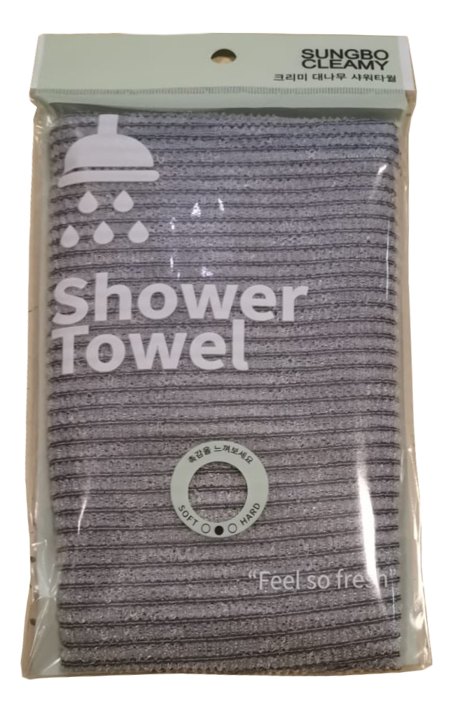 Мочалка для душа Clean & Beauty Bamboo Shower Towel 28*100см