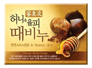 Мыло-скраб мед и каштан Honey & Chestnut Scrub Soap 100г